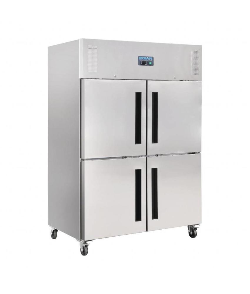 Polar Polar Gastro 2-deurs koeling met gedeelde deuren 1200ltr