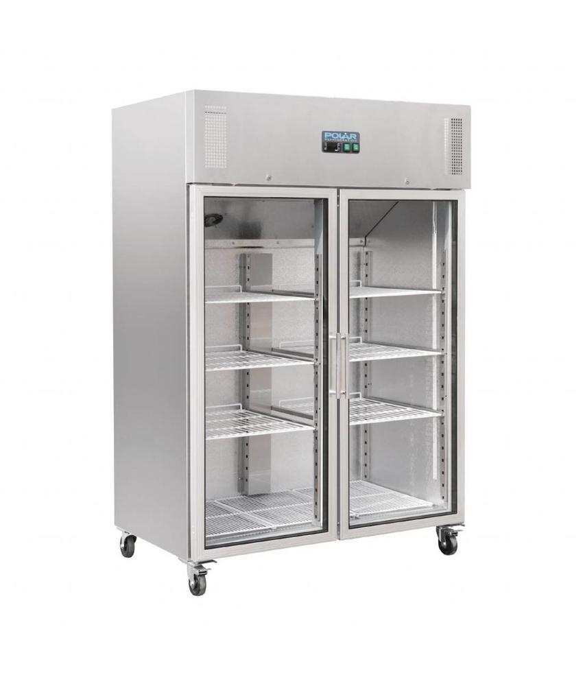 Polar Polar Gastro 2-deurs koeling met glazen deuren 1200ltr