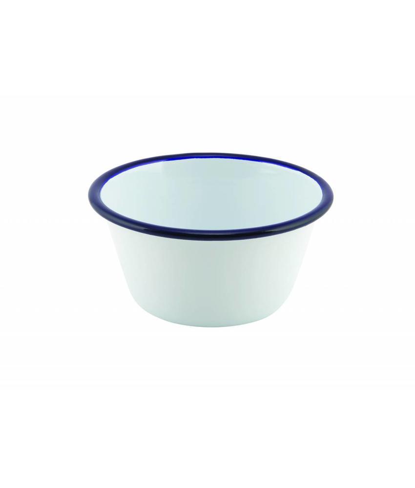 Stylepoint Emaille ovenschaal rond met blauwe rand 12 cm 12 stuk(s)