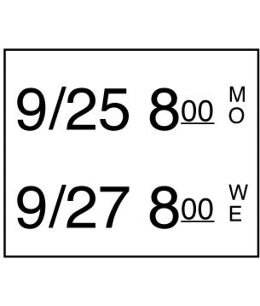Daymark Stickerrol 2-lijnspistool diepvries 750/rol 8 stuk(s)