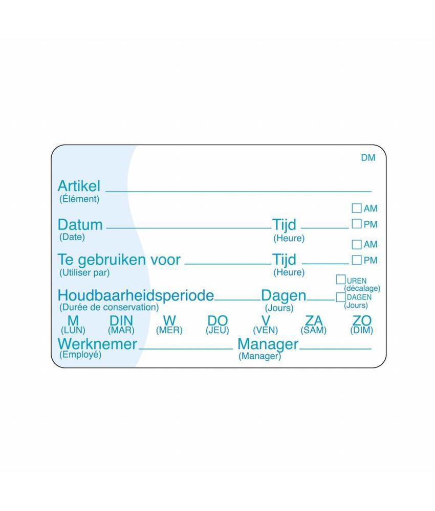 Daymark Vol. oplosbare sticker met schrijfvlak 250/rol 1 stuk(s)