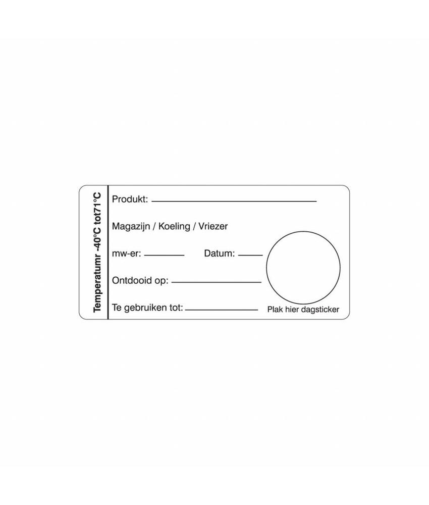 Daymark Multi sticker magazijn/koeling/vriezer 500/rol 1 stuk(s)