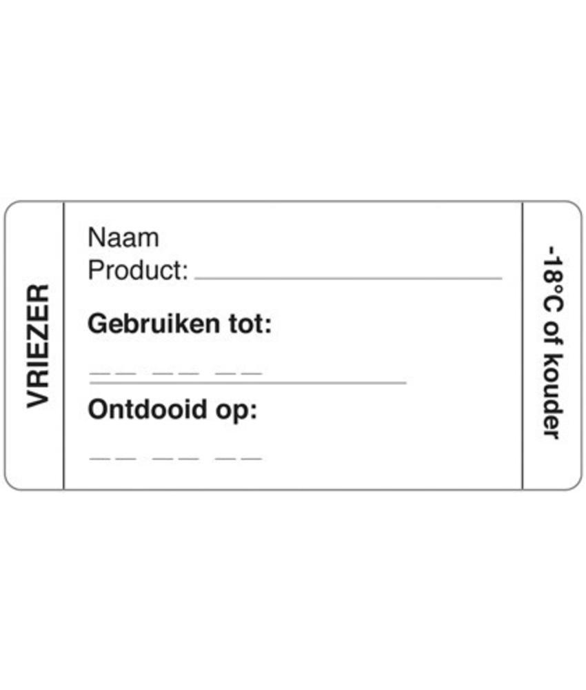 Daymark Afwasbare sticker vriezer 250/rol 1 stuk(s)