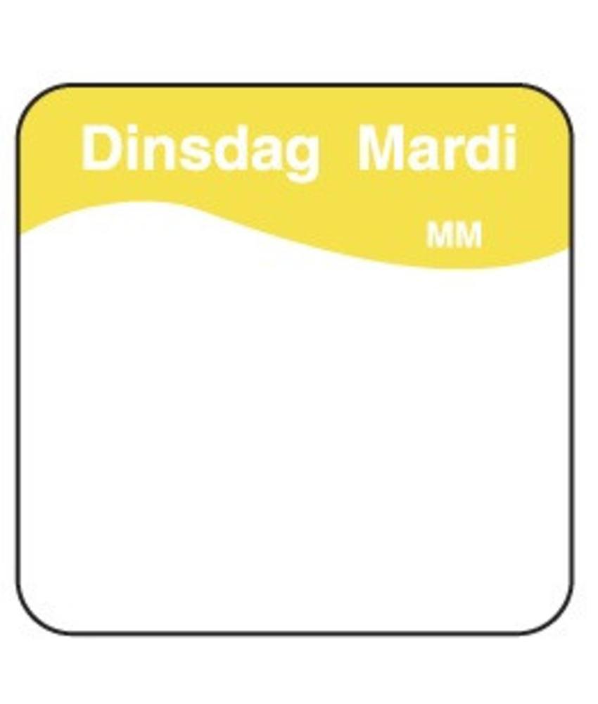 Daymark Vol. oplosbare sticker dinsdag 25 mm 500/rol 1 stuk(s)