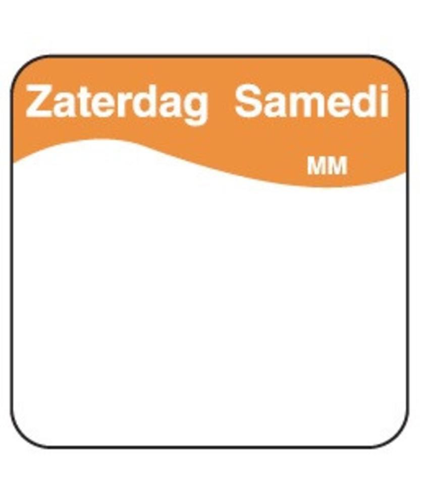 Daymark Vol. oplosbare sticker zaterdag 25 mm 500/rol   1 stuk(s)