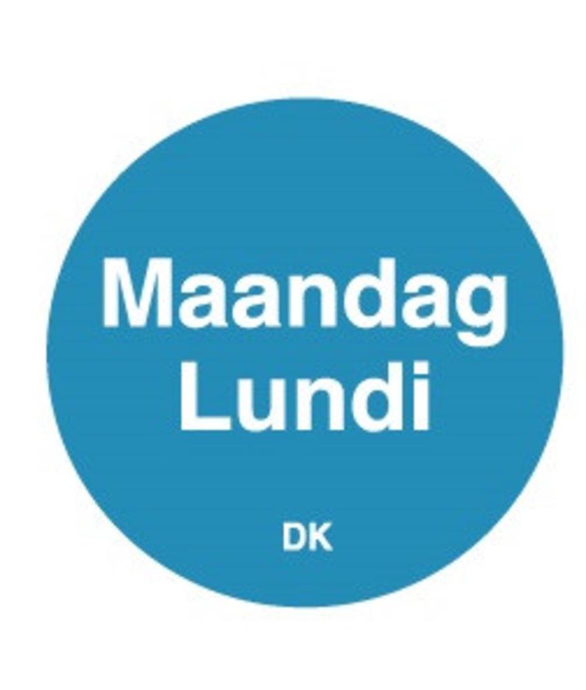 Daymark Permanente sticker maandag 19 mm 1000/rol 1 stuk(s)