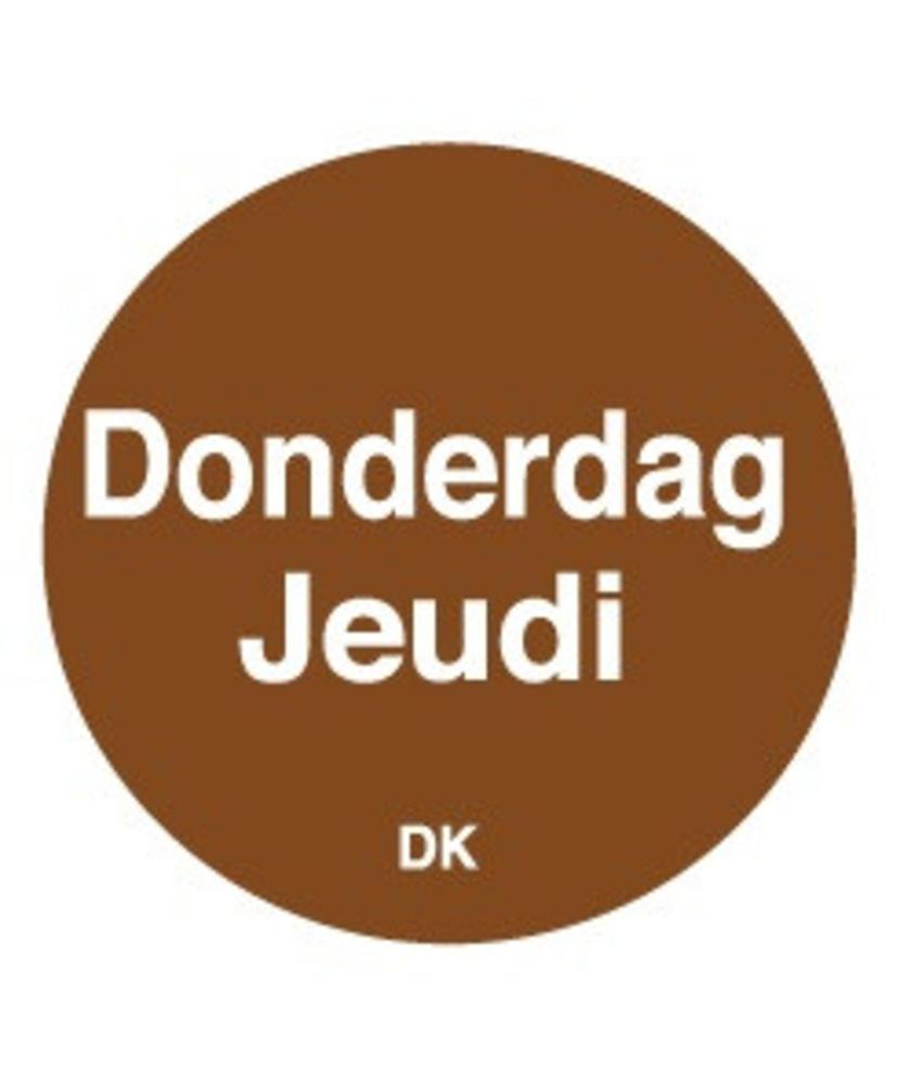Daymark Permanente sticker donderdag 19 mm 1000/rol 1 stuk(s)