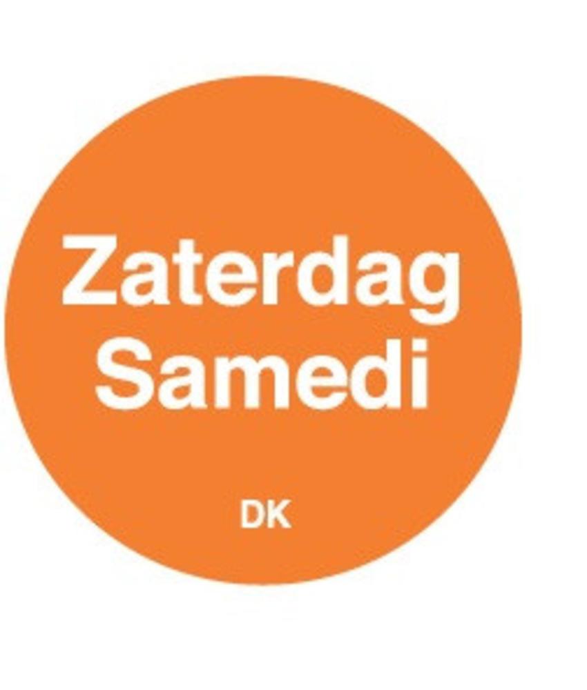 Daymark Permanente sticker zaterdag 19 mm 1000/rol 1 stuk(s)
