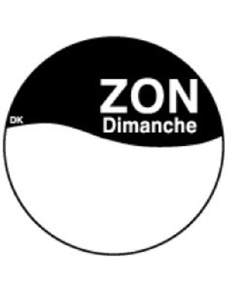 Daymark Perm. sticker m/schrijfvlak zondag 19 mm 1000/rol 1 stuk(s)