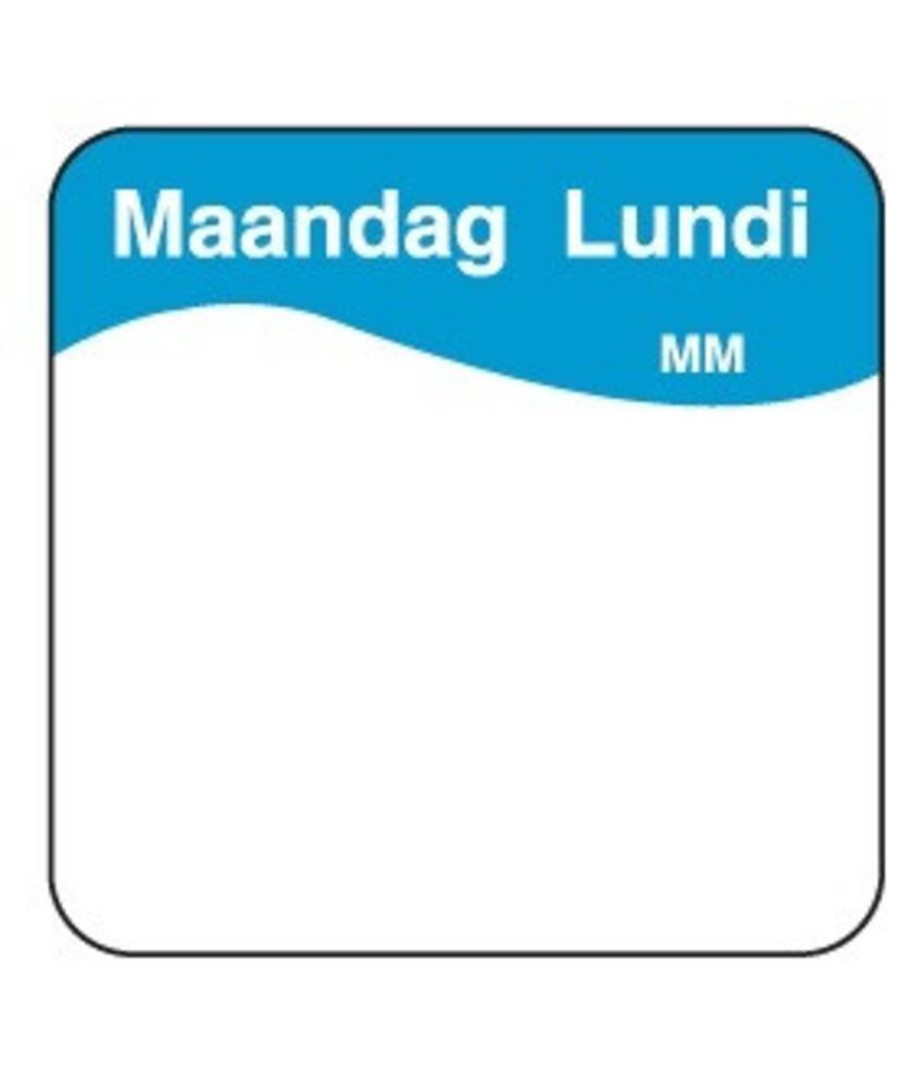 Daymark Makk. verwijderbare sticker maandag 25 mm 1000/rol 1 stuk(s)