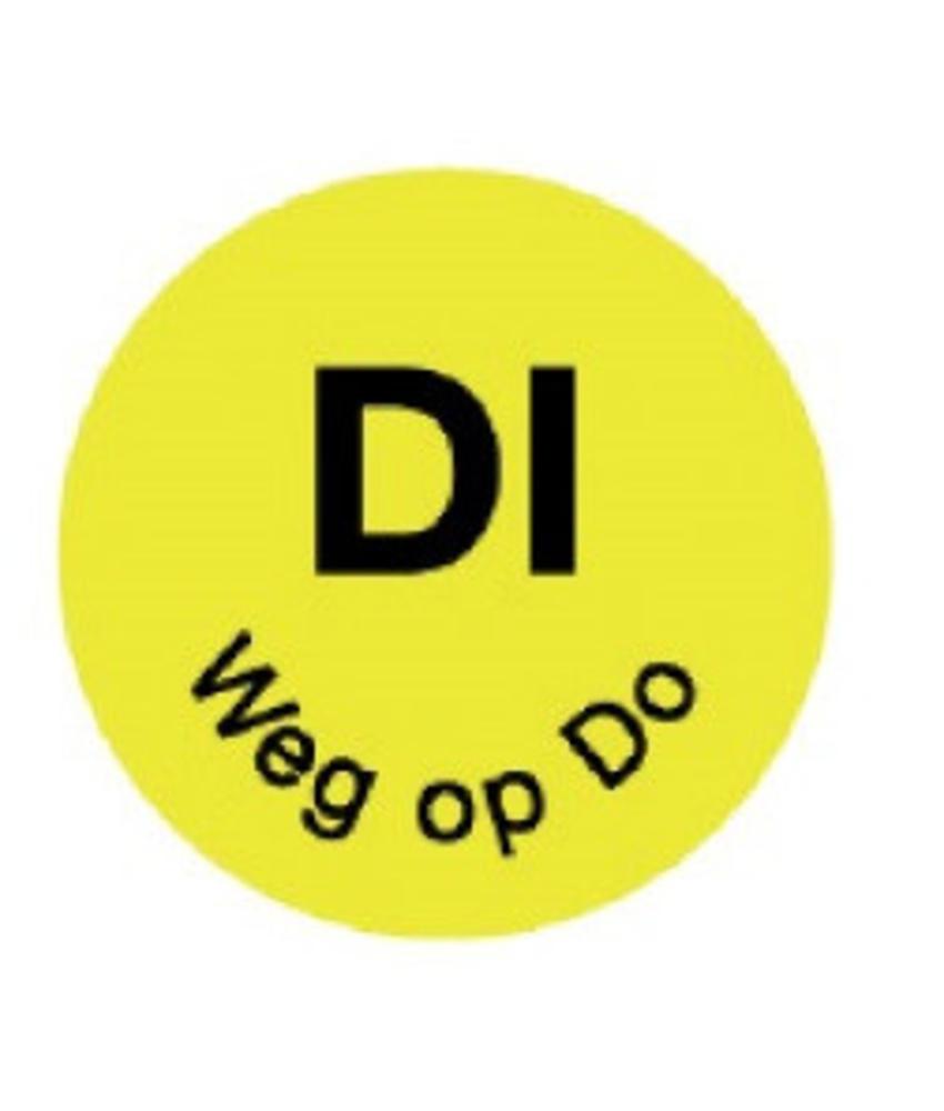 Daymark Perm. sticker 'di weg op do' 19 mm 1000/rol 1 stuk(s)