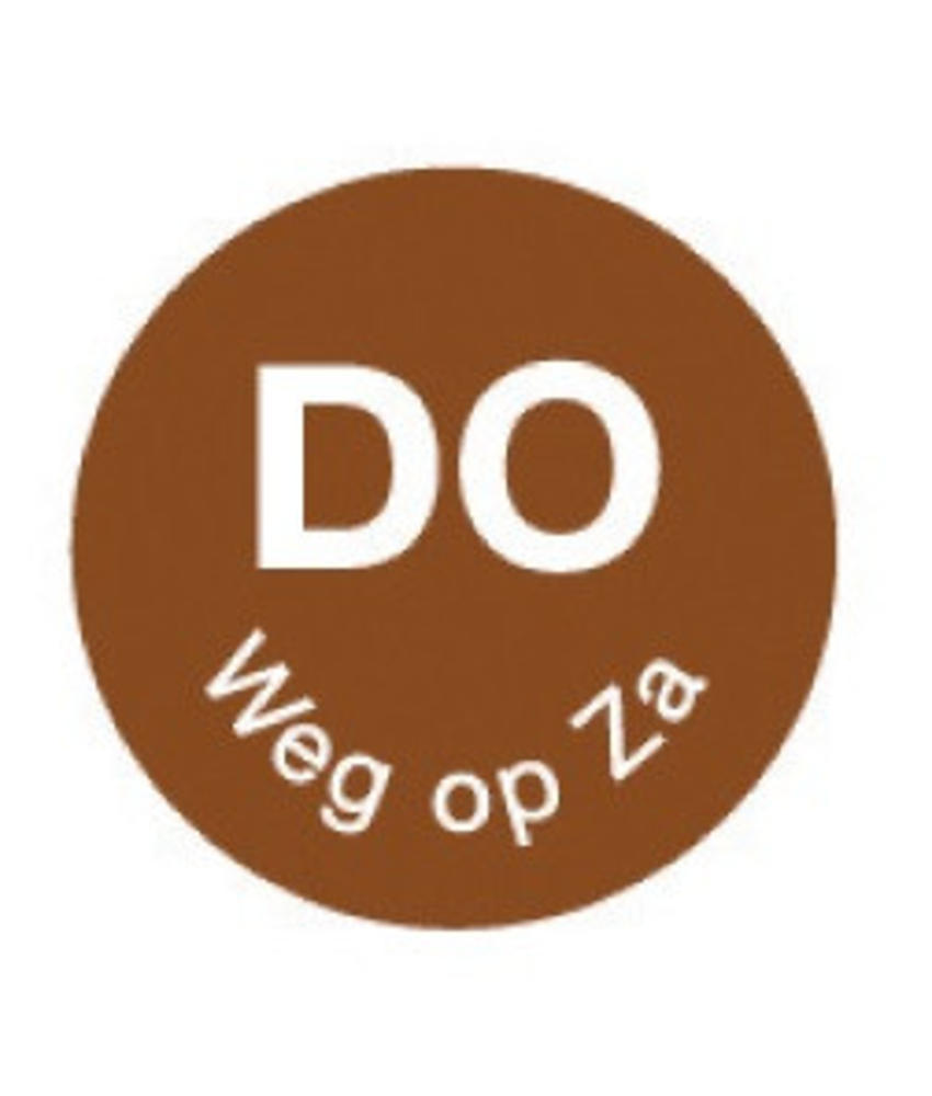 Daymark Perm. sticker 'do weg op za' 19 mm 1000/rol 1 stuk(s)