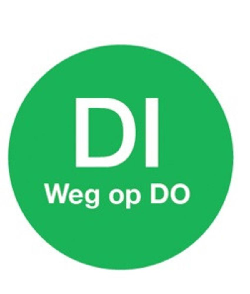 Daymark Afwasb. sticker 'di weg op do' 19 mm 500/rol 1 stuk(s)