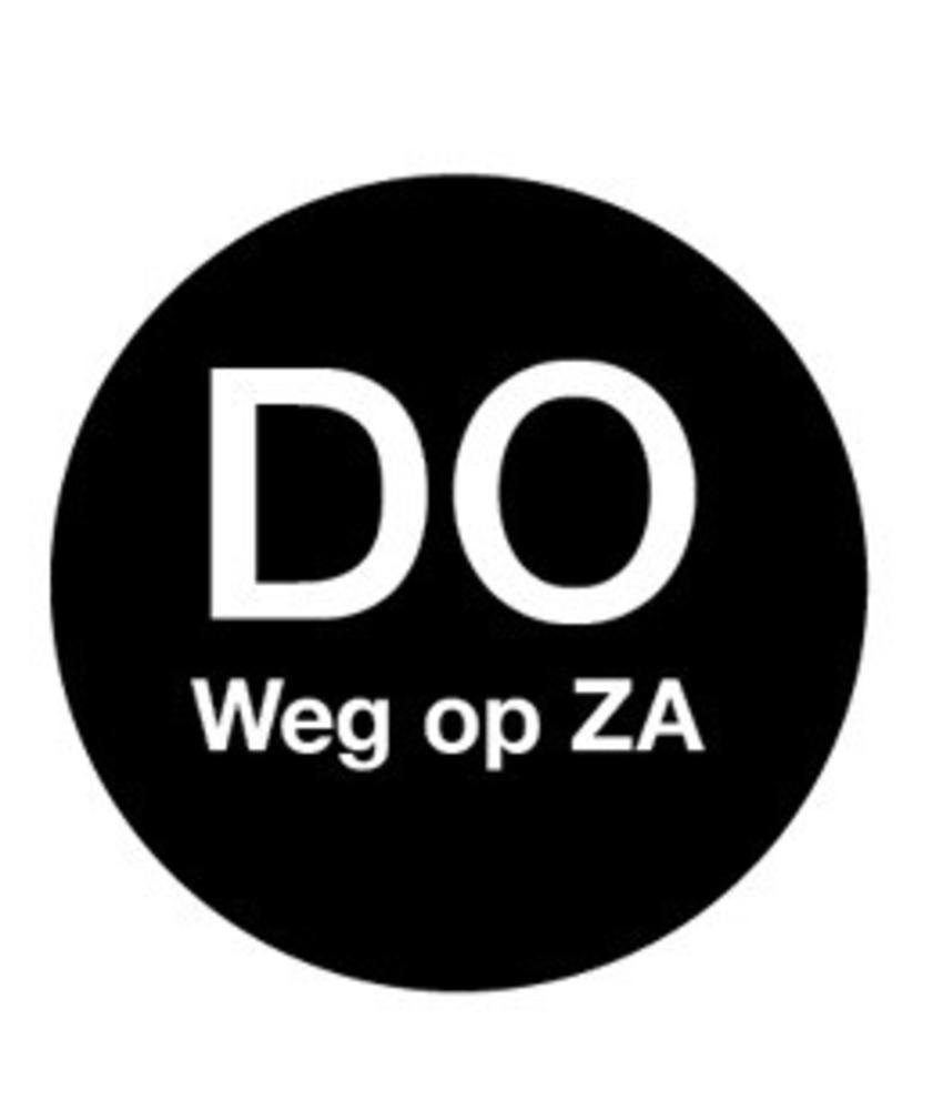 Daymark Afwasb. sticker 'do weg op za' 19 mm 500/rol 1 stuk(s)