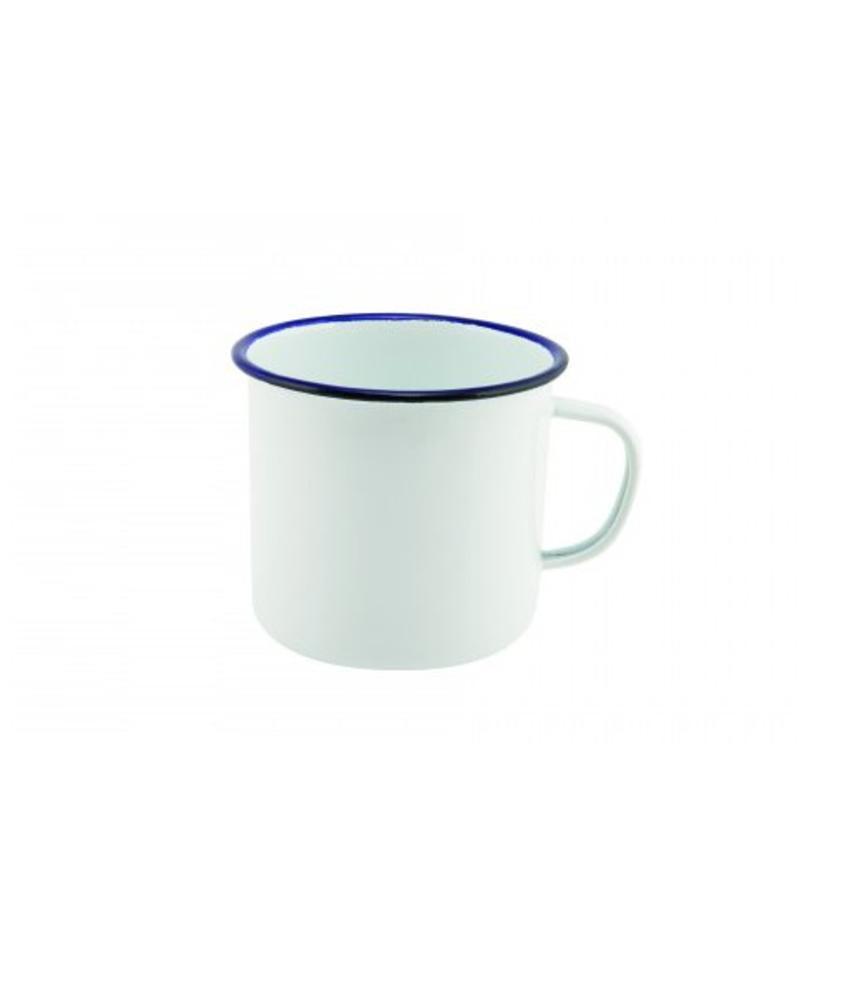 Stylepoint Emaille mok met blauwe rand 568 ml 6 stuk(s)