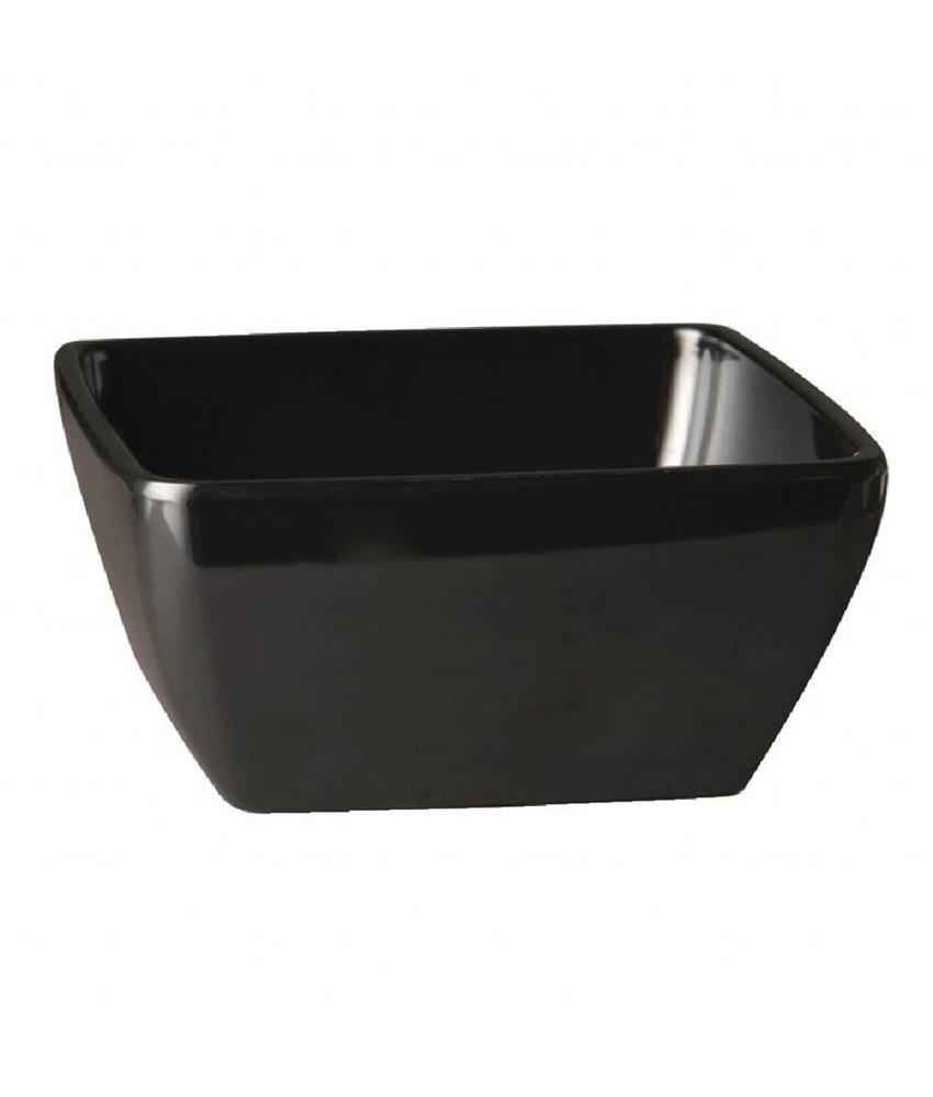 APS Vierkante melamine kom Pure 9cm zwart