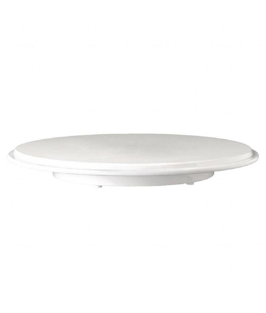 APS Melamine ronde taartschotel wit