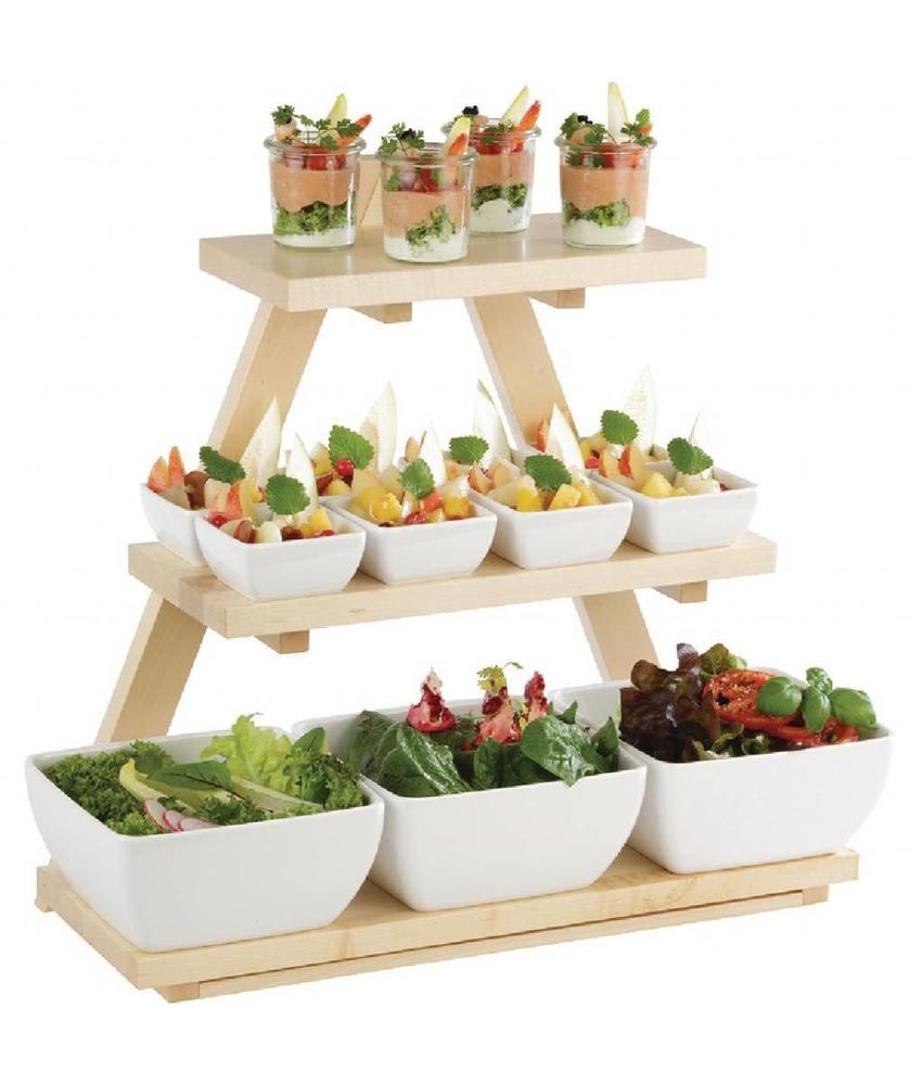 APS Piramidevormige houten buffetstandaard esdoornhout