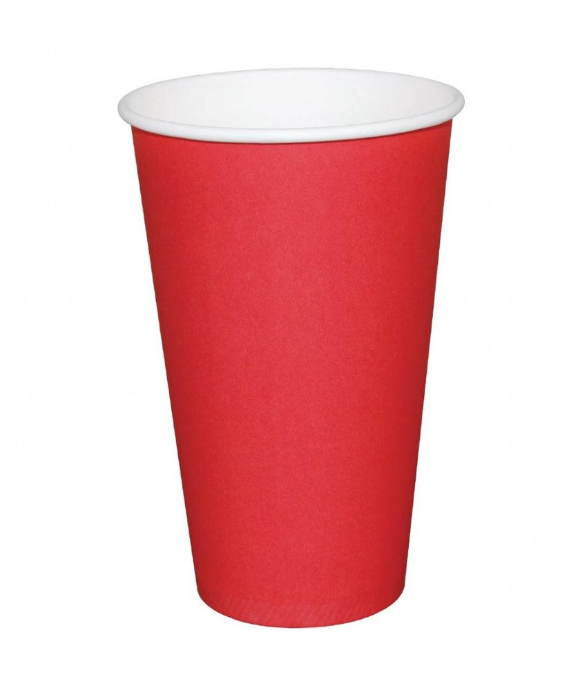 Fiesta Fiesta Hot Cups met enkelvoudige wand rood 23cl x1000 1000 stuks