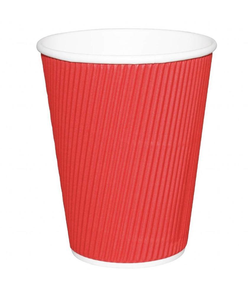 Fiesta Fiesta Hot Cups met gerimpelde wand rood 34cl x500 500 stuks
