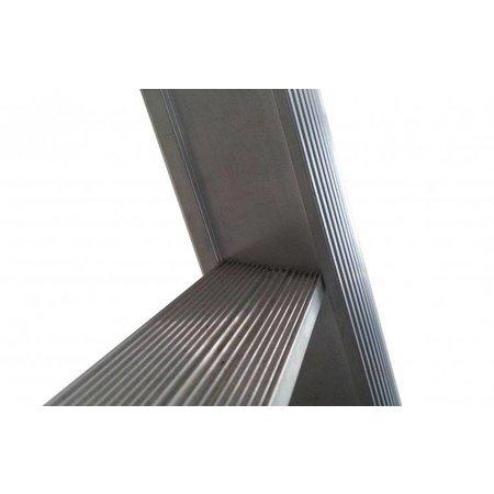 Tweedelige ladder 2x14 Maxall uitgebogen blank