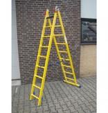 Kunststof ladder GVK 2x14 treden