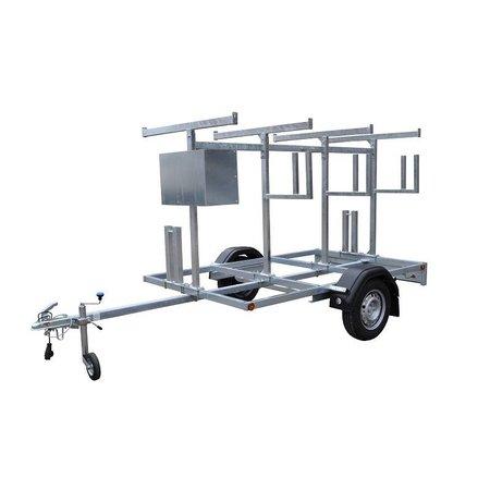 Steigeraanhanger voor het vervoeren van rolsteigers met lengtemaat tot 305 cm