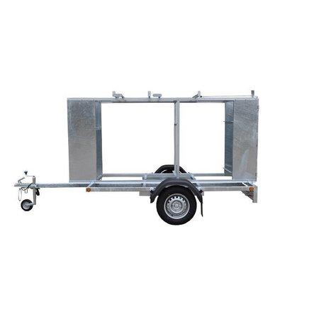Steigeraanhanger afsluitbaar voor het vervoeren van rolsteigers met lengtemaat tot 305 cm