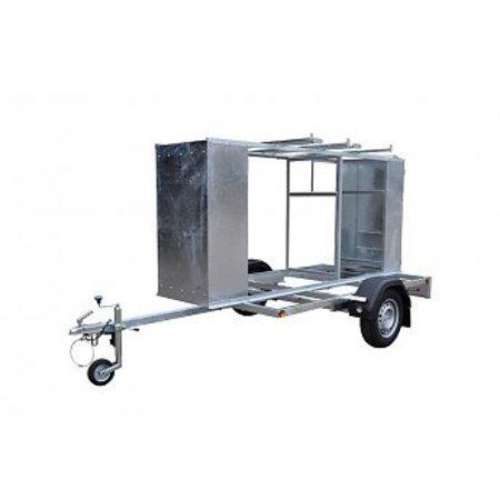 Steigeraanhanger afsluitbaar voor het vervoeren van rolsteigers met lengtemaat tot 250 cm