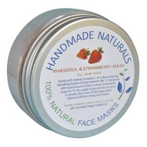 Handmade Naturals Rhassoul & aarbei masker