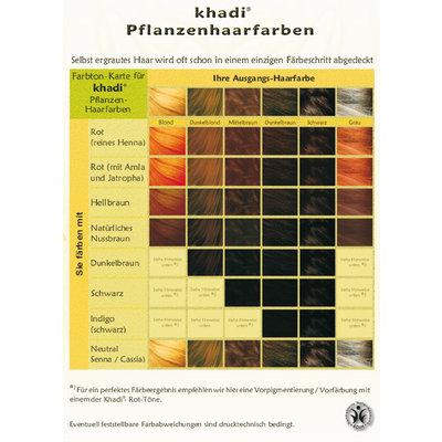 Khadi Henna Haarverf donkerbruin - 100gr