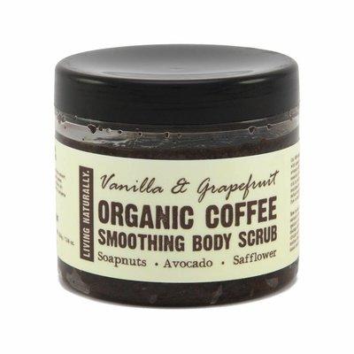 Living Naturally Koffie Scrub - Vanille Grapefruit - 200g