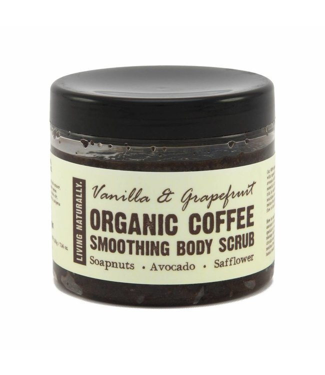 Living Naturally Vanilla & Grapefruit Coffee Scrub - 200g