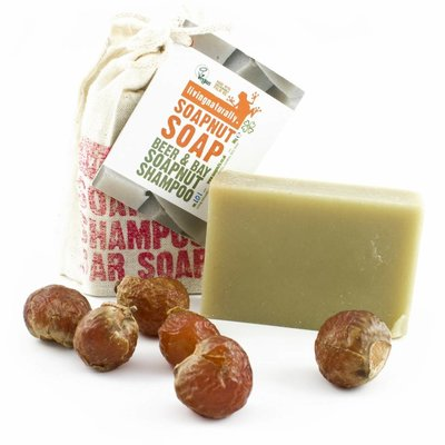 Living Naturally Beer & Bay Soapnut Shampoo bar - 90g