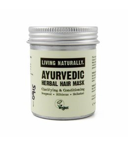 Living Naturally Ayurvedic Herbal Powder Hair Mask