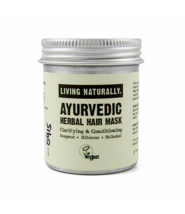 Living Naturally Ayurvedic Herbal Powder Hair Mask - 50g