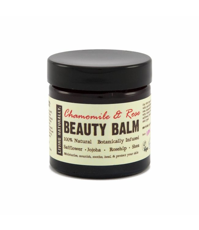 Living Naturally Chamomile & Rose Beauty Balm Moisturiser - 60ml