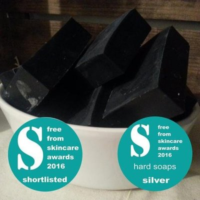 Living Naturally Activated Charcoal Soap Bar- 90g