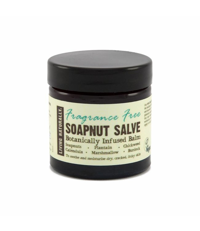 Living Naturally Healing Soapnut Salve - Fragrance Free