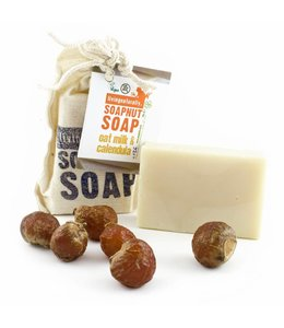 Living Naturally Oat Milk & Calendula Soapnut Soap