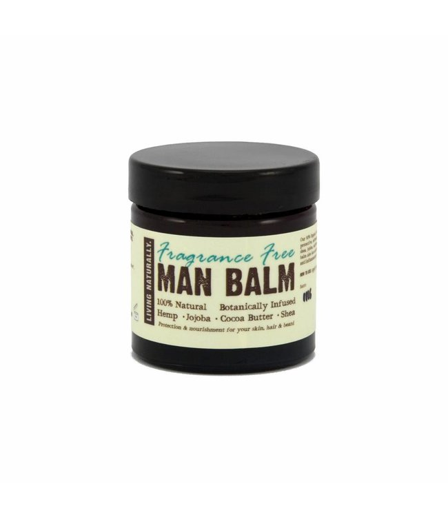 Living Naturally All-in-one Men Balm Moisturiser fragance free - 60ml
