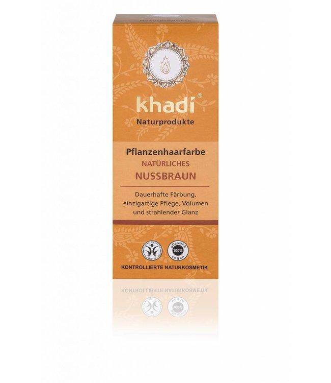 Khadi Haarverf notenbruin - 100gr