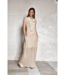 Elisa Cavaletti longue jupe beige