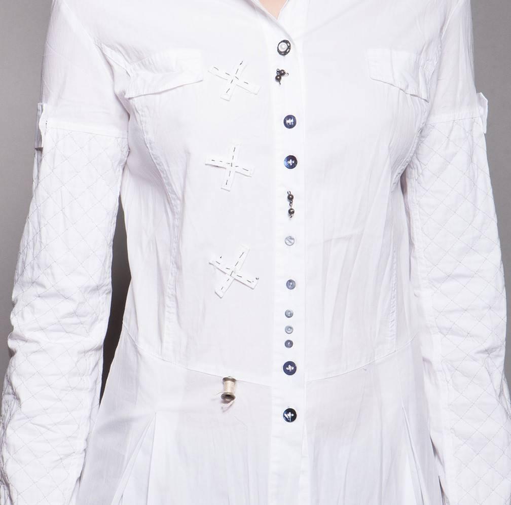 Elly Italia Long-Bluse weiss - modepur fd45ec5e01