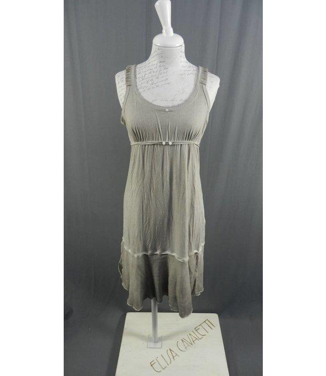 Elisa Cavaletti Langes aermelloses Kleid grau verwaschen