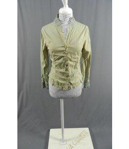 Elisa Cavaletti Kurz Bluse grün-beige verwaschen
