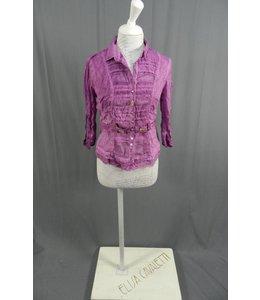 Elisa Cavaletti Kurz-Bluse 3/4 Arm violett verwaschen