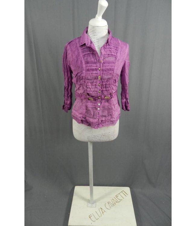 Elisa Cavaletti Kurz Bluse 3/4 Arm violett verwaschen