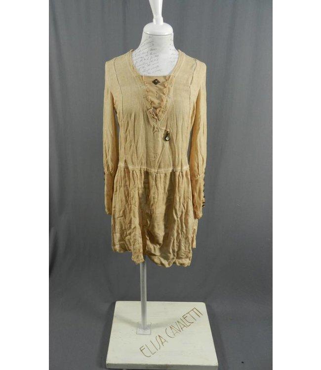 Elisa Cavaletti Kleid beige-apricot verwaschen