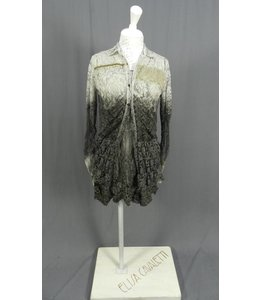 Elly Italia Dress und Spitzenbluse grau-antrazith verwaschen